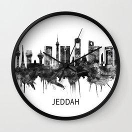 Jeddah Saudi Arabia Skyline BW Wall Clock