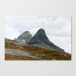 We Stand Together (Two Mountains, Norway) Canvas Print