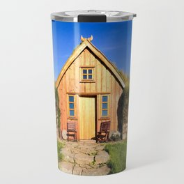 The Old Farmhouse at Hofsstaðir in Northern Iceland Travel Mug