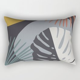 Minimal Yin Yang Monstera Fan Palm Night Finesse #1 #tropical #decor #art #society6 Rectangular Pillow