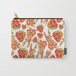 Rabbits & Strawberries Carry-All Pouch