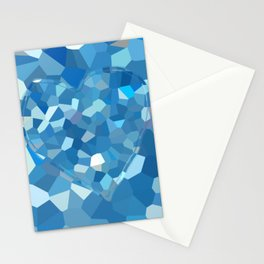 Aqua Heart Stationery Cards