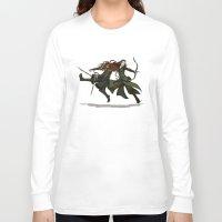 legolas Long Sleeve T-shirts featuring Pure Elven Elegance by wolfanita