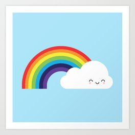 Kawaii Rainbow Art Print