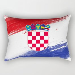 Croatia's Flag Design Rectangular Pillow