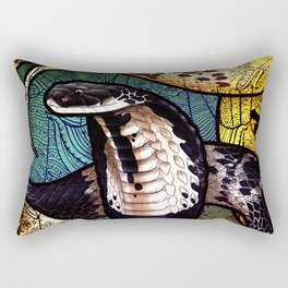 Indo-Chinese Spitting Cobra Rectangular Pillow