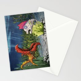 mutant and punk fish Stationery Cards