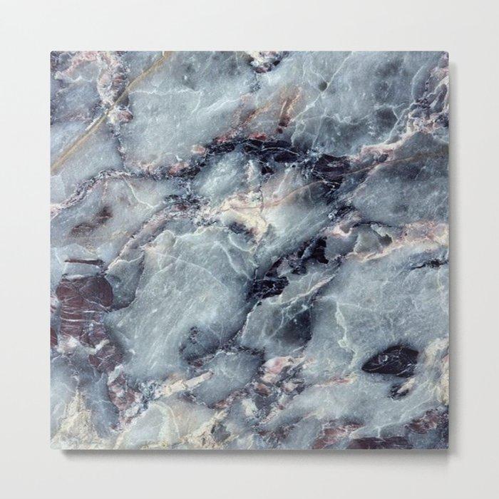 Blue Bayou Marble Metal Print
