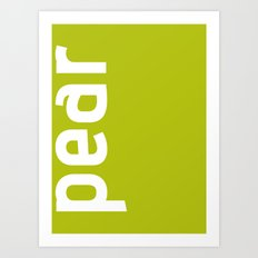 Colors - Pear Art Print