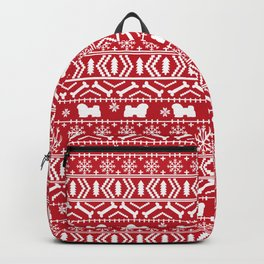 Havanese fair isle christmas sweater pattern dog breed gifts festive holidays Backpack