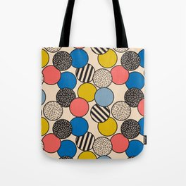 Memphis Inspired Pattern 5 Tote Bag