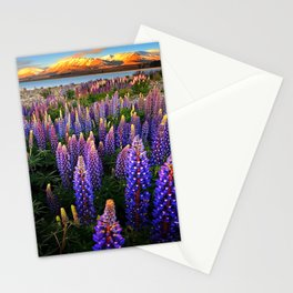 LUPINES FIELD Stationery Cards