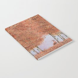 Autumn Birch Fox Notebook
