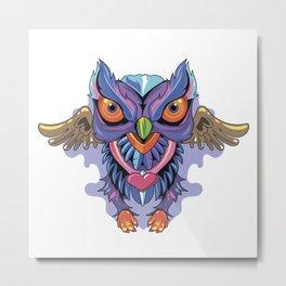 Owl Colors Metal Print