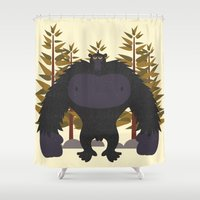 monster Shower Curtains featuring Monster by Chicokids