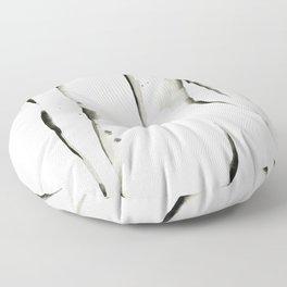 Black on White Nude No.2 Floor Pillow