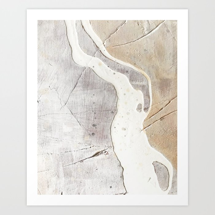 Feels: a neutral, textured, abstract piece in whites by Alyssa Hamilton Art Kunstdrucke