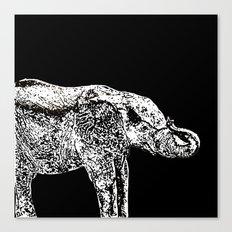 Elephant Black Canvas Print