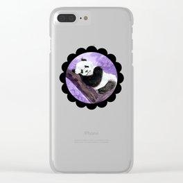 Panda bear sleeping Clear iPhone Case