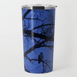 Hawk in Tree Travel Mug