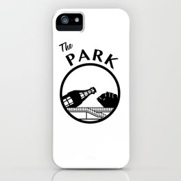 The Park (Black) iPhone Case
