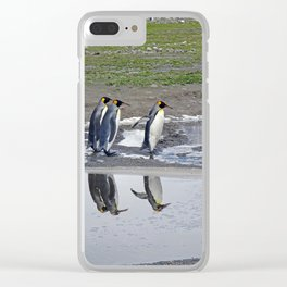 More King Penguin Reflections Clear iPhone Case