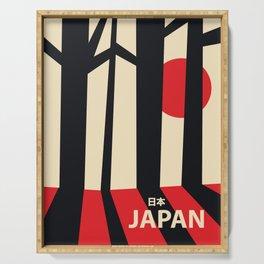 Japan vintage travel poster Serving Tray