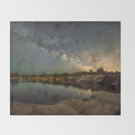 Milkyway at Halibut Point State Park quarry Throw Blanket