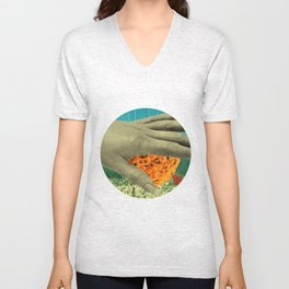 wake up and smell the flowers Unisex V-Neck