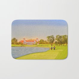TPC Sawgrass Golf Course 18th Hole And Clubhouse Bath Mat
