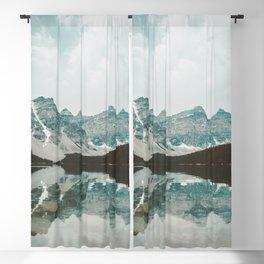 Moraine Lake Mountain Reflection Summer Blackout Curtain