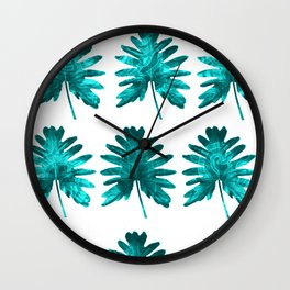 Electric Leaves Wall Clock