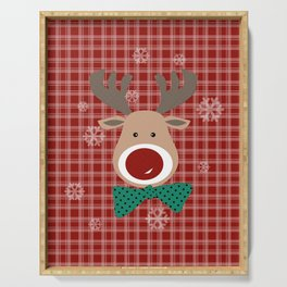 Deer. Patchwork Serving Tray