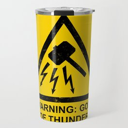 Warning: God of Thunder Travel Mug