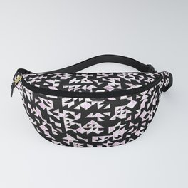 Inverted Black and White Randomness Fanny Pack