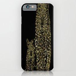 Big Cat Models: Magnified Snow Leopard and Cub 01-01 iPhone Case