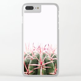 cactus red Clear iPhone Case