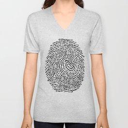 Animal Fingerprint Unisex V-Neck