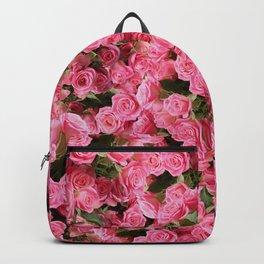 Pink Rose Floral Pattern Backpack