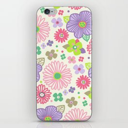 happy flowers iPhone Skin