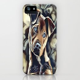 The Blue Eyed Pit bull Puppy iPhone Case