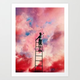 Cloud Painter Art Print