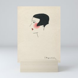 Demoiselle rougissante Mini Art Print