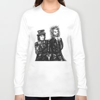 goth Long Sleeve T-shirts featuring Goth Detectives by Grace Mutton