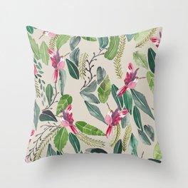 Bird Garden Vintage Throw Pillow