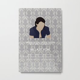 His Last Vow - Janine Metal Print