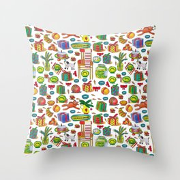 NEY YEAR PATTERN Throw Pillow
