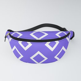 Abstract geometric pattern - blue and white. Fanny Pack