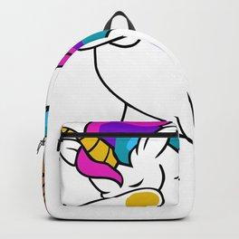 Dabbing Unicorn Softball Backpack