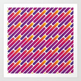 Colorful Line Pattern Art Print